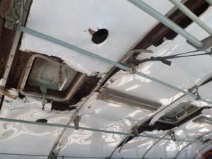 Il soffitto del bus verso Phongsaly