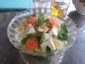 Zuppa con tofu